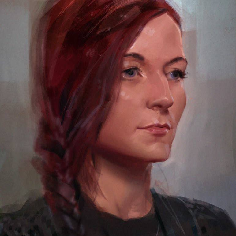 Portrait painted by Jana Schirmer