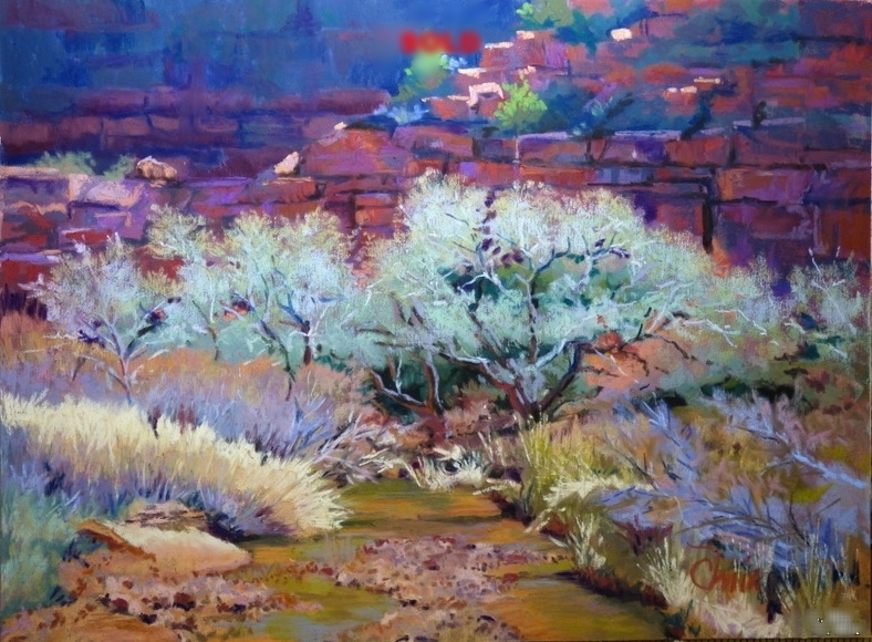 Spring Trees by the Virgin River