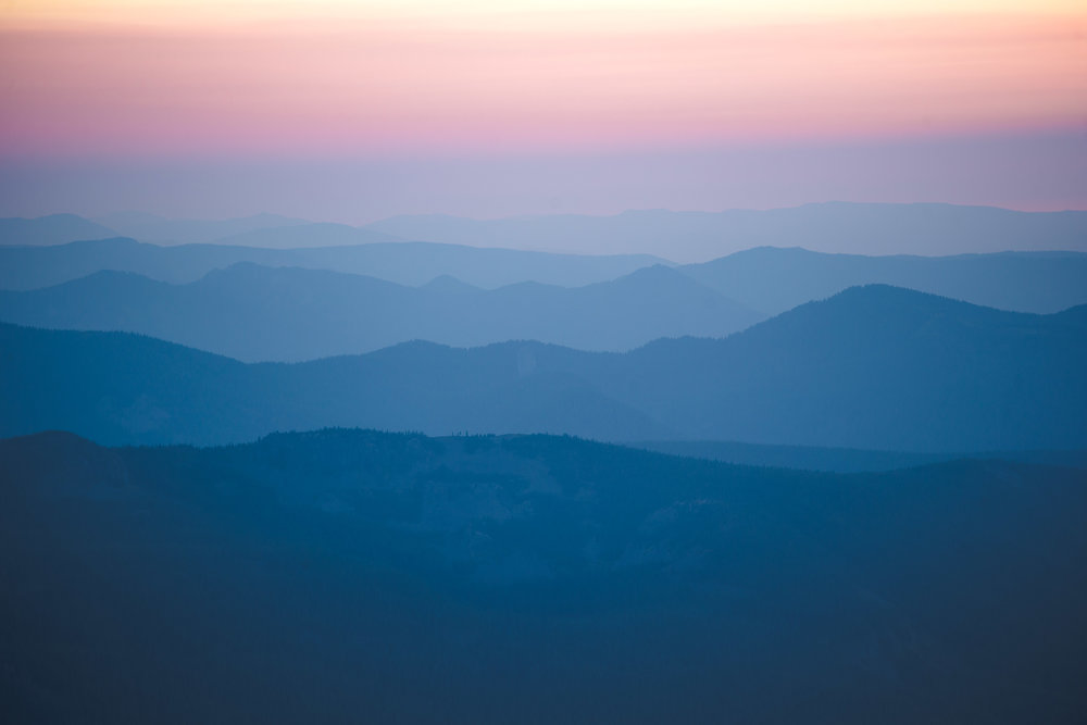 smokey mountains below Hood