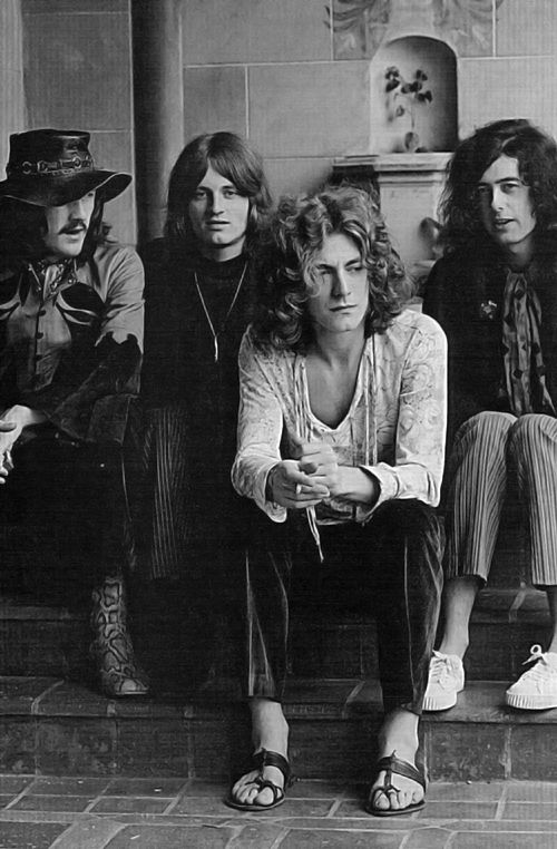 John Bonham, John Paul Jones, Jimmy Page + Robert Plant.