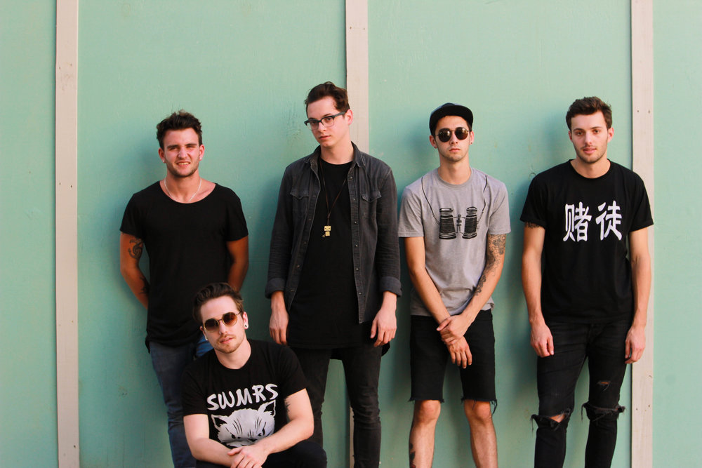 The Wrecks: Nick Schmidt, Aaron Kelly, Nick Anderson, Billy Nally, + Westen Weiss.