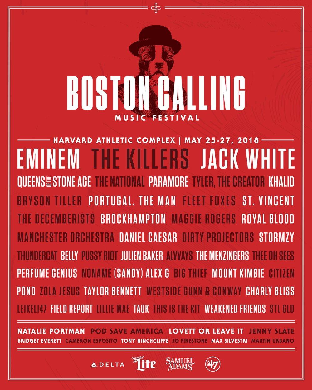 Boston Calling Lineup