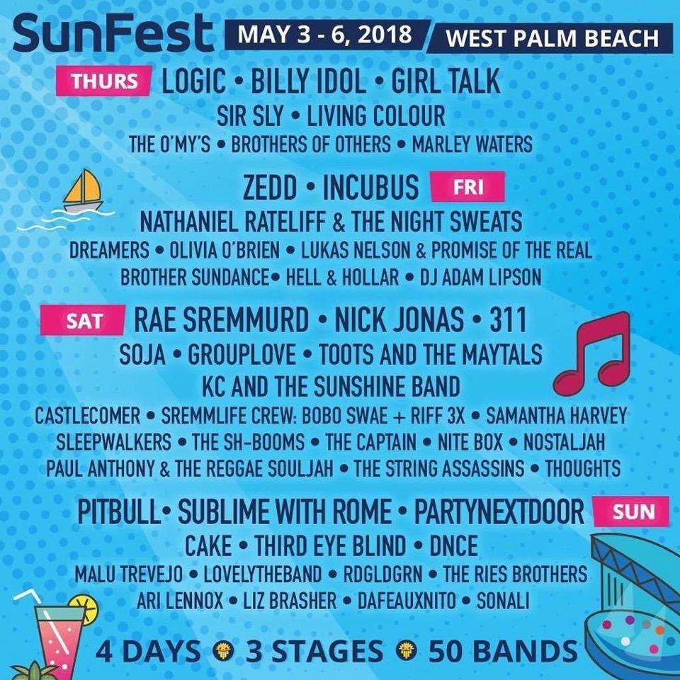 SunFest 2018 : Lineup
