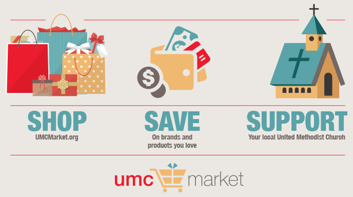"Shop at the UMC Market and Support West Heights UMC - Through the General Council on Finance and Administration of the United Methodist Church, West Heights is able to receive donations every time you make a purchase online at the UMCMarket. There is no additional cost or charge for either you or West Heights. To sign up, click on the logo, select Sign In/Up, enter your email address and a password and choose ""West Heights United Methodist Church"" as the ministry. That's it - you are ready to shop! This is open to anyone so share this opportunity with your friends and family. Thank you!"