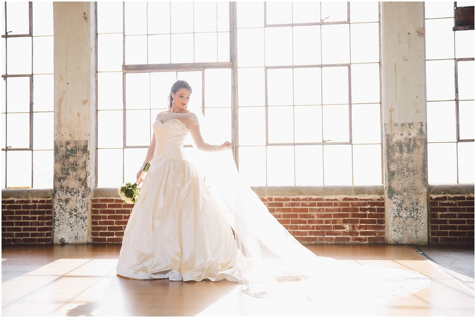 Bridal Portraits at The Loft at Union Square, High Point NC