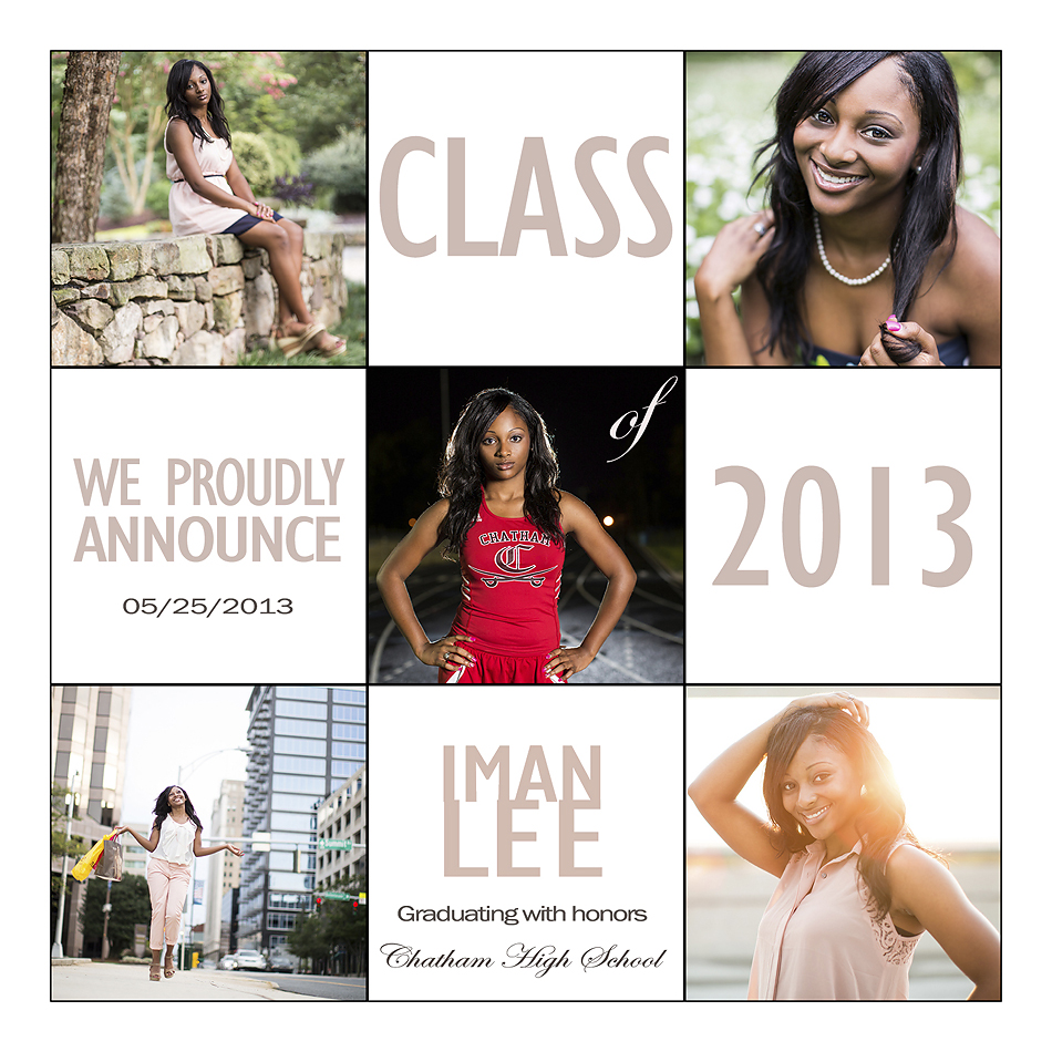 High School Senior photos and senior announcements