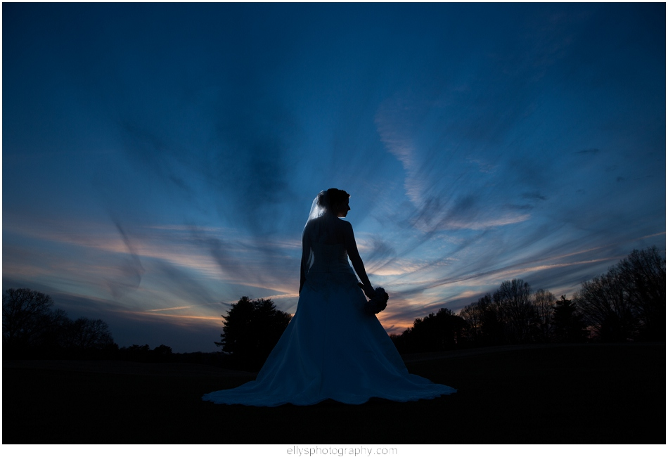 Bridal Portrait in Tanglewood Park in Clemons NC