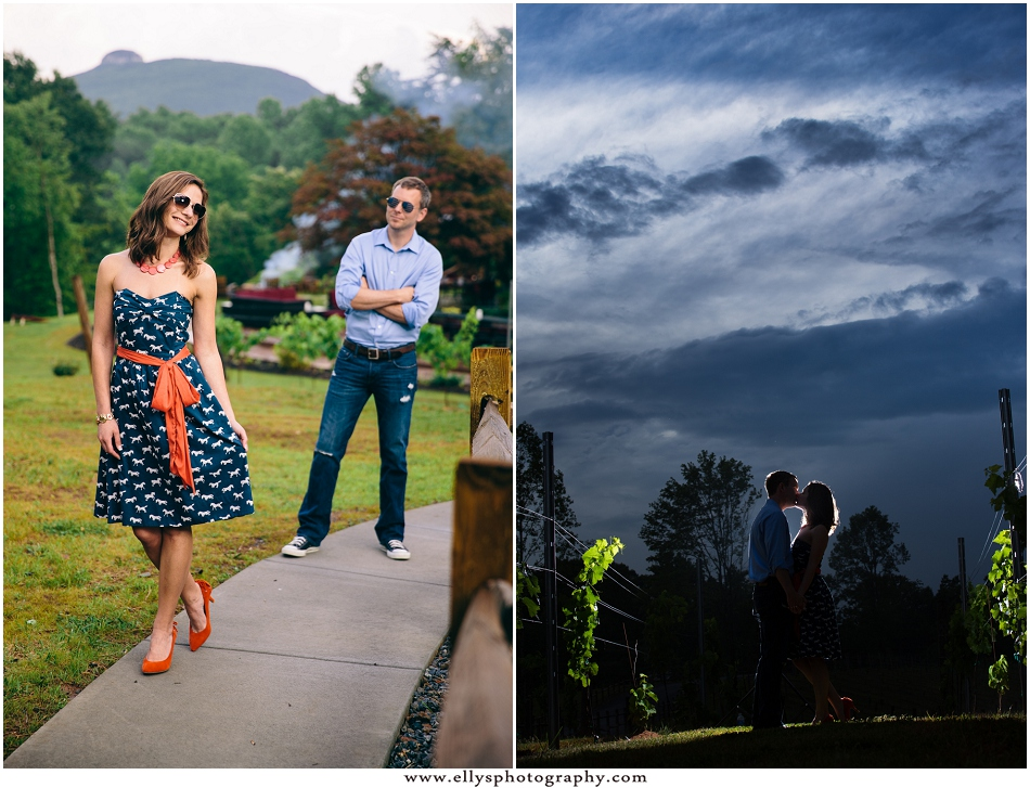 Engagement photos at Jolo Winery in Pilot Mountain, NC