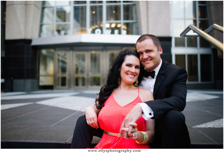 Uptown Charlotte Engagement Session with Jenna and Robert