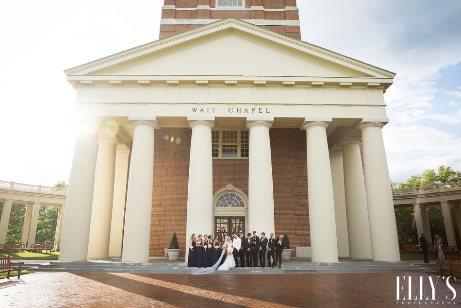 Millennium Center Wedding with Wake forest alumni