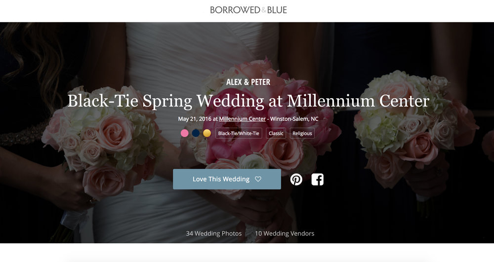 To view their wedding on Borrowed and Blue - Click here