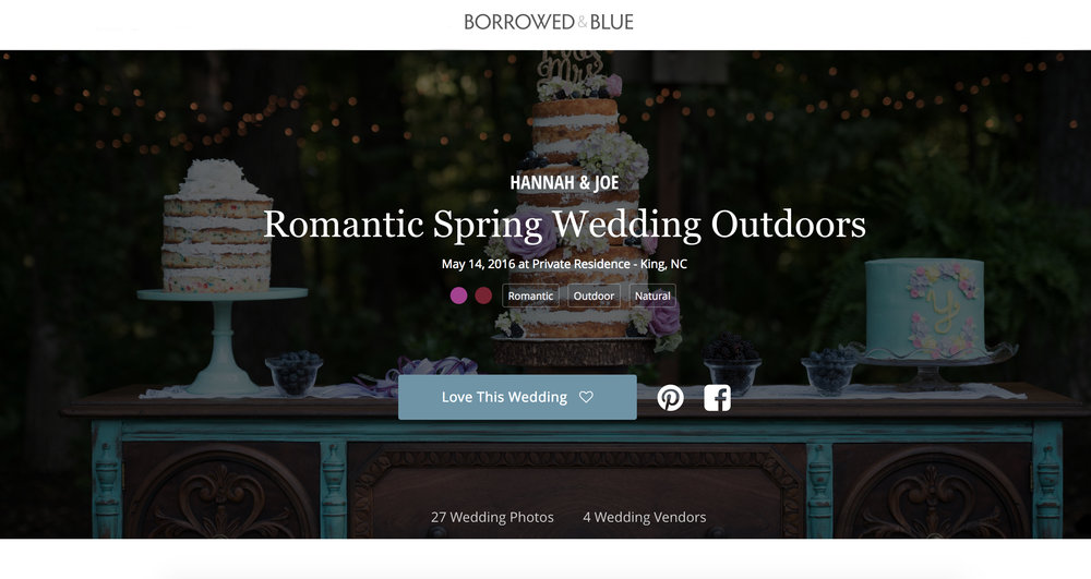Featured on Borrowed and Blue - Click here to view their feature!