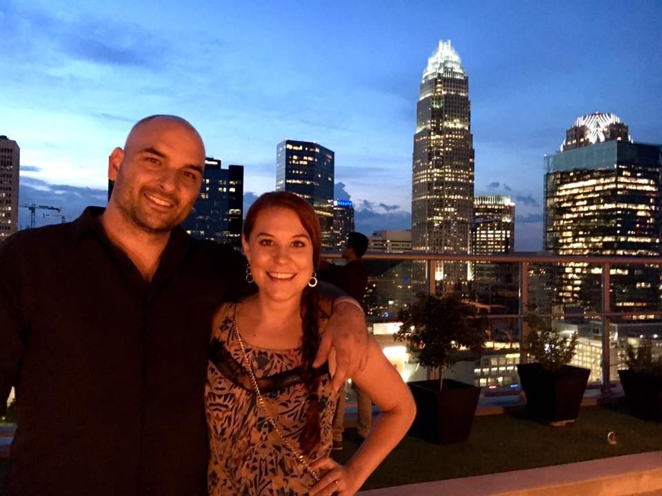 My husband and I - We love our queen city!