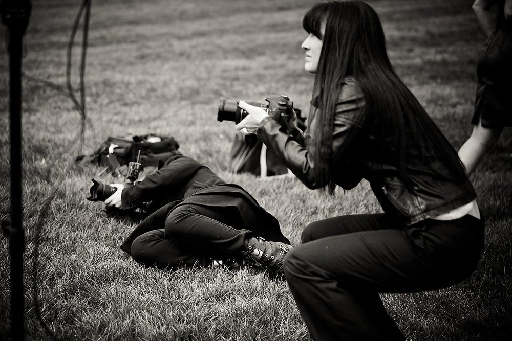 It's often that you'll find me on the ground shooting...