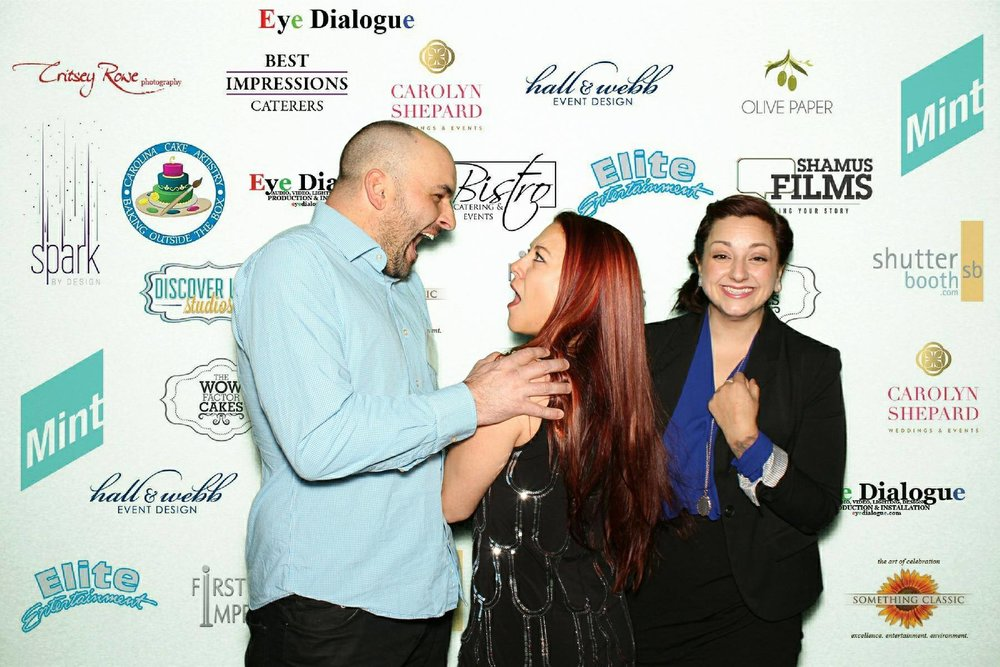 Silliness with my husband and Lisa at a networking event
