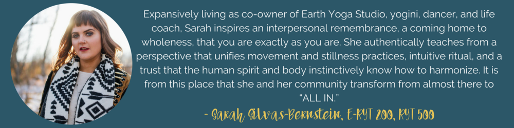 Sarah Silvas-Bernstein Earth Yoga Teacher Training Intensive