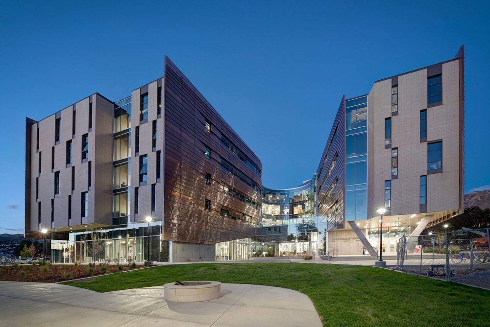 1. Recognized as one of the 9 Best New University Buildings Around the World –  U of U Lassonde Living Studios , (Architectural Digest Online), 2017 ( published Feb. 21, 2017 ) 2. SXSWedu Learn X Design Award – Physical Category –  U of U Lassonde Living Studios , (SXSWedu Conference March 7 - winner among 15 projects from around the world), 2017 3. New York Times -  The Innovation Campus: Building Better Ideas  –  U of U Lassonde Living Studios , ( New York Times , published Aug. 4, 2016) 4. Bloomberg -  University of Utah's New Dorm Mimics Google HQs  –  U of U Lassonde Living Studios , ( Bloomberg Businessweek , published July 16, 2014) 5. Fast Company -  Lassonde Studios is a $45M Experiment in Education  –  U of U Lassonde Living Studios , ( Fast Company , published Feb. 27, 2017) 6. Utah Business -  Year One at Lassonde Studios: International Praise, Architecture Awards and Student Success  –  U of U Lassonde Living Studios , ( Utah Business , published May 4, 2017) 7. Business Insider -  There's a sprawling college building in Utah where 400 students live, sleep, and study to be entrepreneurs around the clock  –  U of U Lassonde Living Studios , ( Business Insider , published Oct. 28, 2017) 8. Business Wire -  U of Utah Recruiting the '400 Best Student Entrepreneurs'  –  U of U Lassonde Living Studios , ( Business Wire , published Mar. 23, 2015) 9. Utah Technology Council -  International Praise, Architecture Awards and Student Success Highlight First Year in New Home for Student Entrepreneurs at the University of Utah  –  U of U Lassonde Living Studios , ( Utah Technology Council , published May 3, 2017) 10. Associated Press -  University of Utah Unveils $45M Entrepreneur Institute  –  U of U Lassonde Living Studios , ( Associated Press , published Sept. 22, 2016) 11. Trillions.biz -  University of Utah Opens New $45 Million Student Housing Center  –  U of U Lassonde Living Studios , ( Trillions.biz , published Oct. 2, 2016)  12. Guth Award for Innovative Lighting Design – Interior Lighting –  Lassonde Living Studios,  (IES Utah), 2016 13. Higher Education/Research Building Project of the Year –  U of U Lassonde Living Studios , (AGC Annual Awards), 2016 14. Outstanding Project of the Year in Public Category –  U of U Lassonde Living Studios , (Utah Construction & Design), 2016 15. Award of Excellence -  U of U Lassonde Living Studios , (AGC of Utah), 2016