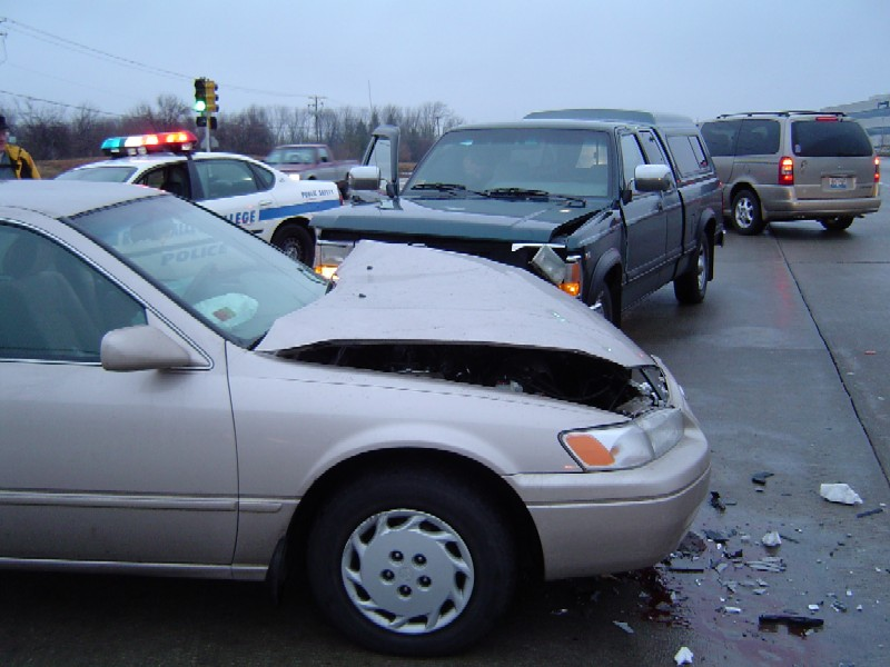 Two car collision and person in need of a personal injury car accident or wrongful death attorney
