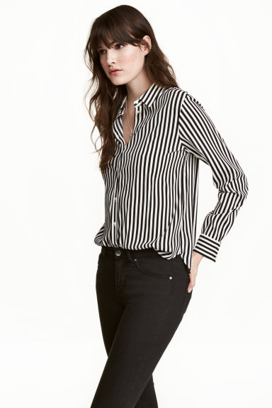 H&M Striped Long Sleeve Shirt