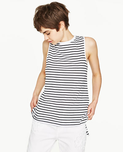 Zara Basic Striped Tee