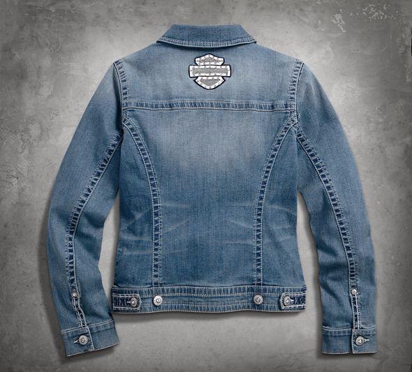 Harley Davidson Women's Denim Pin Jacket