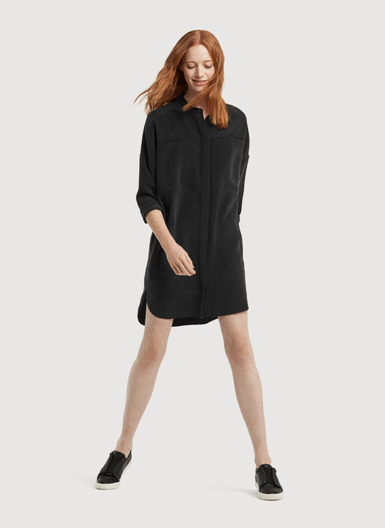 Kit+Ace All Buttoned Up Silk Dress