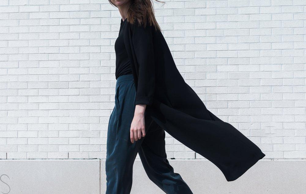 kitandace stretch silk trouser