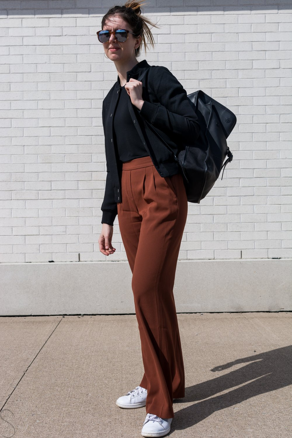 rust wide legged pants artizia