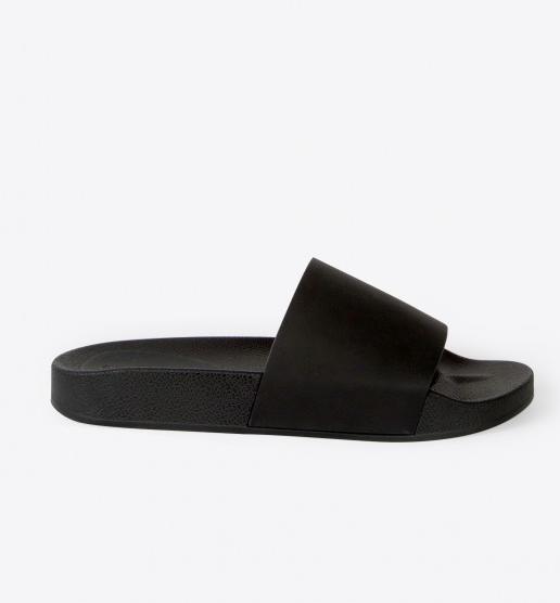 Oak + Fort Black Slide Sandal 1274