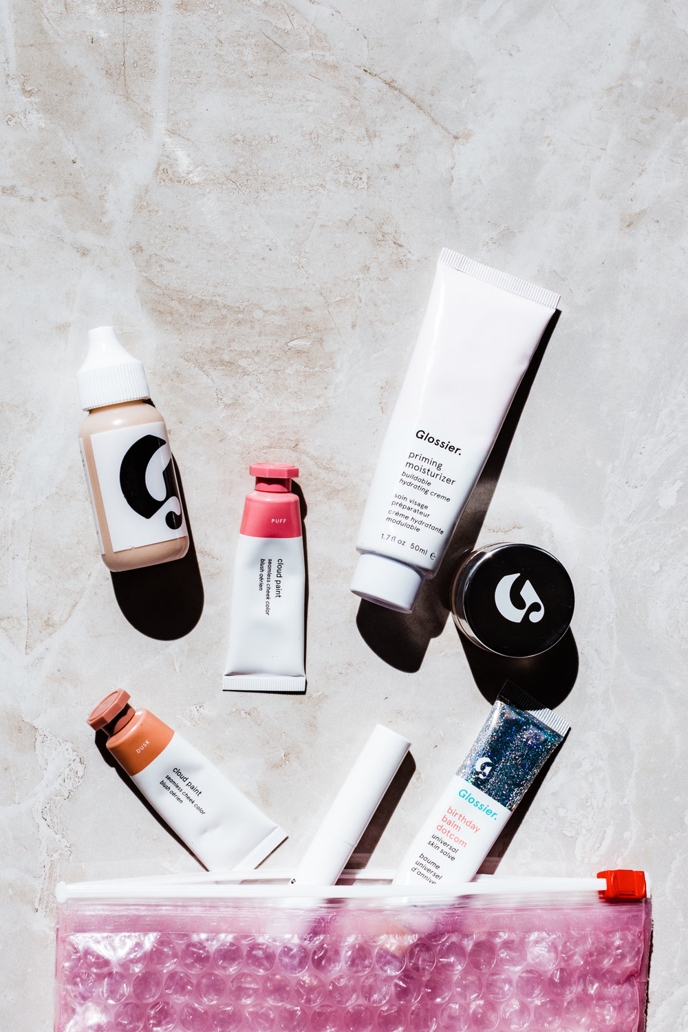 glossier cloud paint haloscope balm dot com priming moistuirizer stretch concealer skin perfecting tint generation g zip - styleapotheca