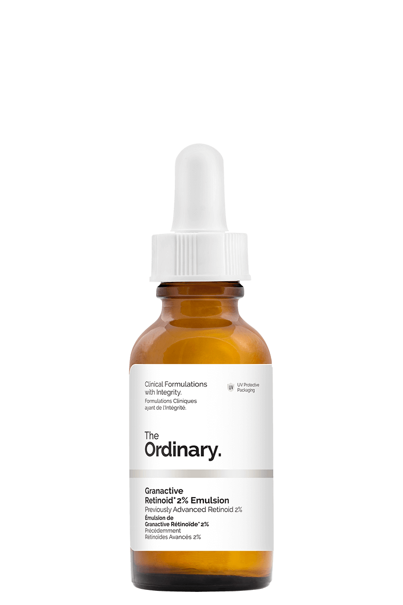 The Ordinary Granactive Retinoid 2% Emulsion   $9.80 CAD   Apply after cleansing and serums. Improves brightness, texture and pigmentation. Wear SPF in the daytime.  -