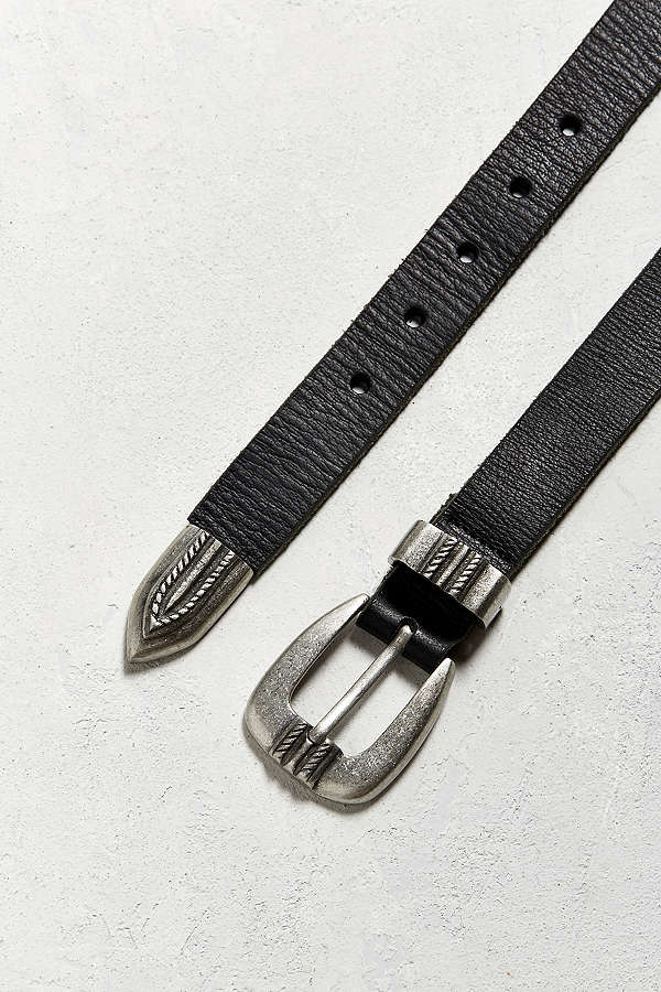 UO Metal Tipped Leather Belt