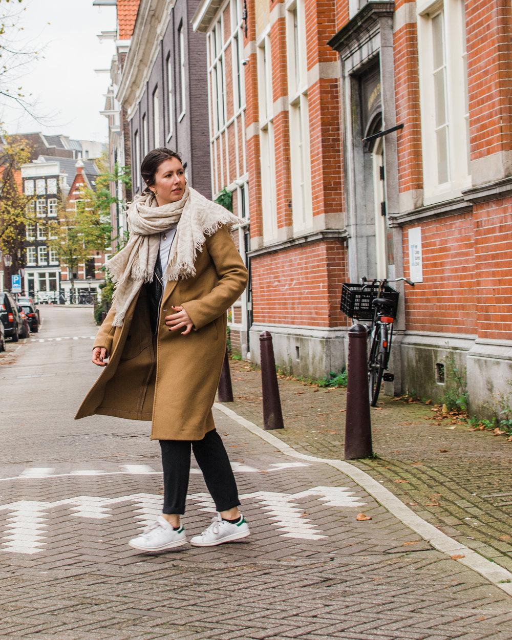 Amsterdam - Babaton Stedman Camel Coat Aritzia - Style Apotheca