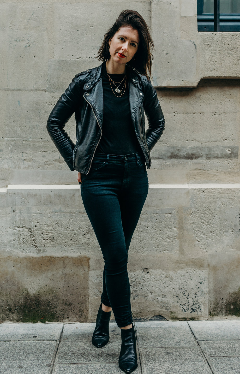 all black outfit biker jacket - style apotheca