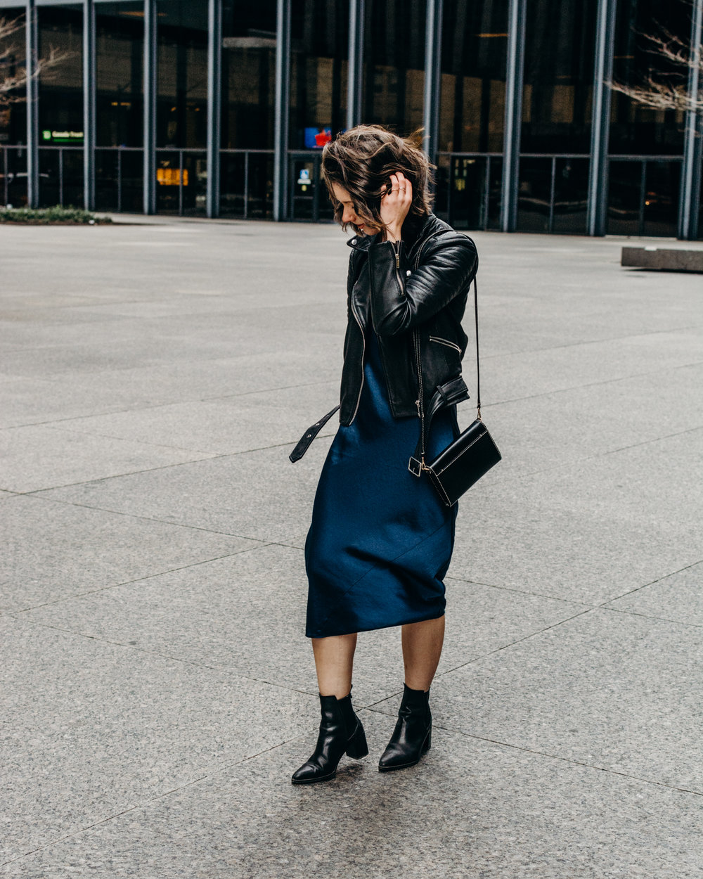 aritzia christine dress style apotheca slip dress fashion blogger style blogger zara booties silk dress