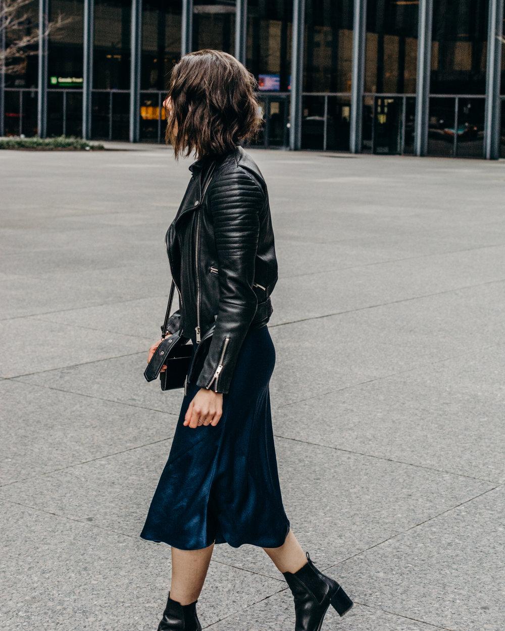 aritzia christine slip dress silk slip dress style apotheca fashion blogger toronto blogger toronto style
