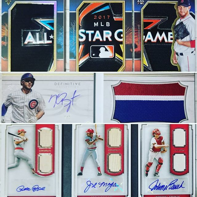 New pickups!  @topps 2018 #triplethreads #definitive #primecuts #book #booklet #craigkimbrel @redsox  #krisbryant @cubs @reds #bigredmachine  #thehobby #collectibles #autograph #tradingcards #whodoyoucollect #webuysportscards #guidetothesportscardsworld  Shop www.blackjadedwolf.com