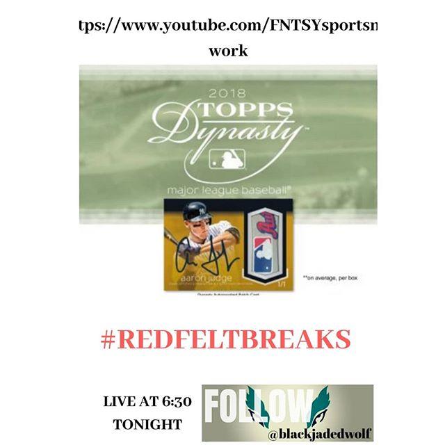 2018 Topps Dynasty #Juansoto #acuna #ohtani #judge #jeter  Live at 6:30pm  https://www.youtube.com/FNTSYsportsnetwork  Shop at blackjadedwolf.com  @topps @blackjadedwolf @Redfeltbreaks @nba @mlb @nfl #RedFeltBreaks #autograph #rookie #memorabilia #breakers #sportscards #collectibles #whodowecollect #whatdowecollect #blackjadedwolftv #guidetothesportscardsworld