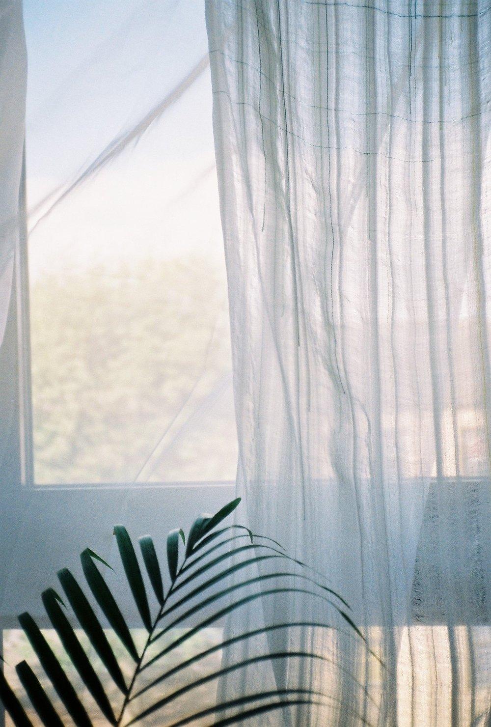Transparent textiles dobby cloth