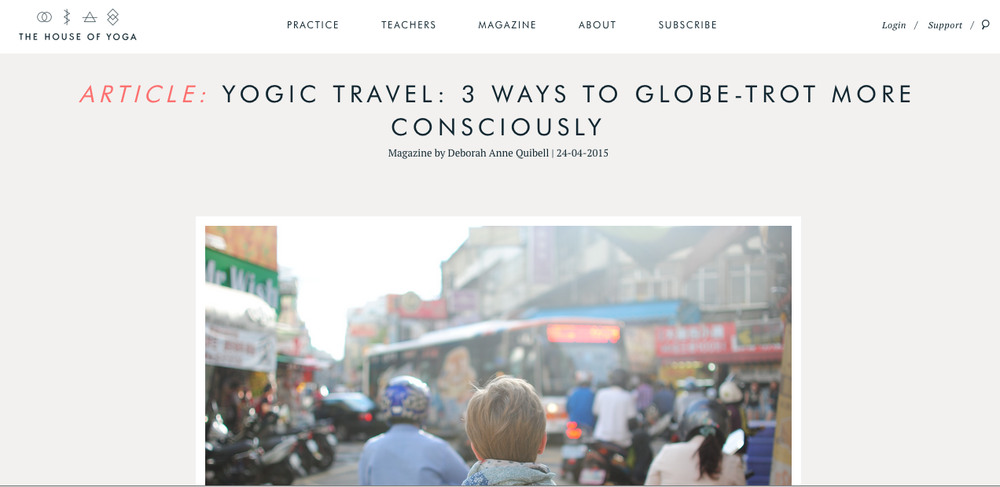 Yogic Travel