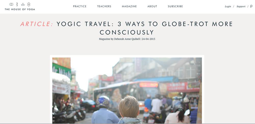 Yogic Travel