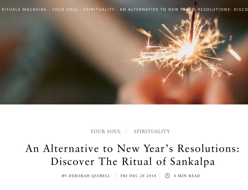 Ritual of Sankalpa