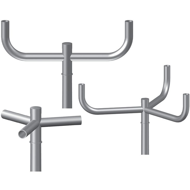 Custom Designed + Fabricated Pole Brackets -