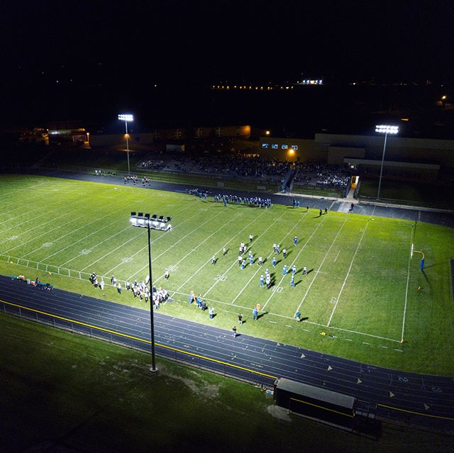 The Campbellsport football field project is complete! Check out these stunning results! The field is equipped with 60' Direct Burial Sports Poles, 470w LED Helios Sport Light Fixtures, and 160w LED Shoebox Hercules Area Light Fixtures. #MadeInWisconsin  #SportsLighting #FNL #FootballLighting