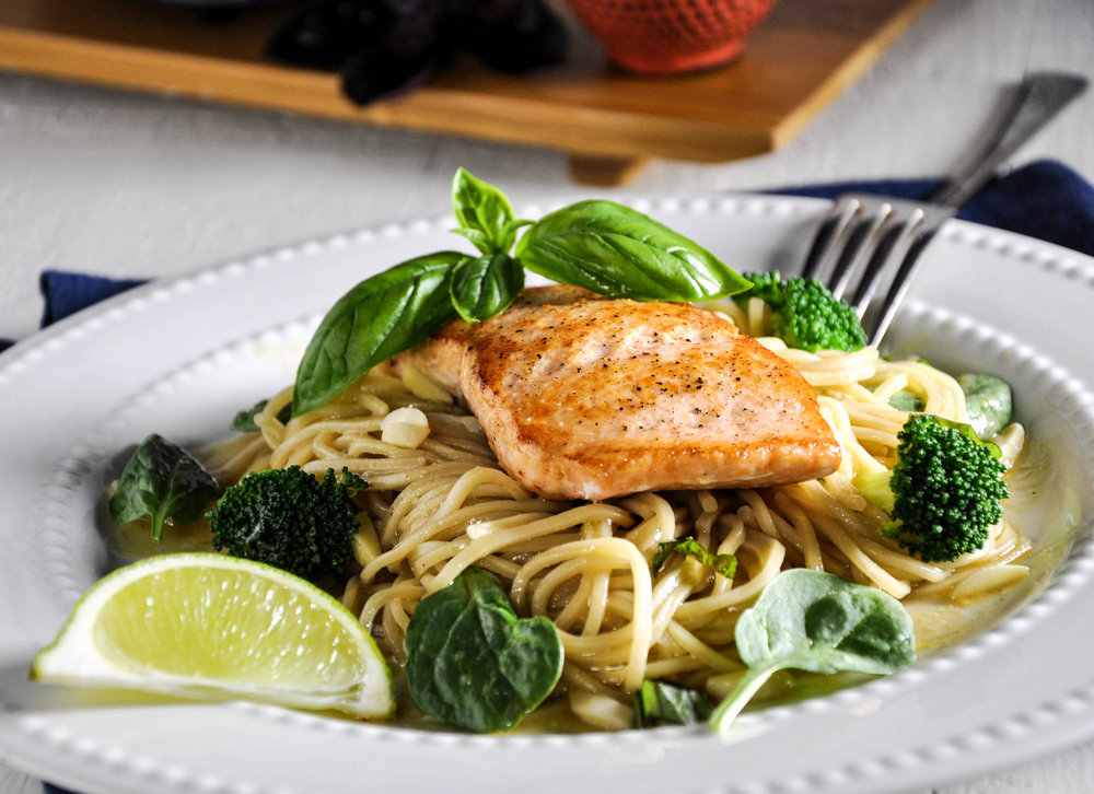 Verlasso Salmon & Soba Noodle Salad with Miso-Honey-Ginger Glaze