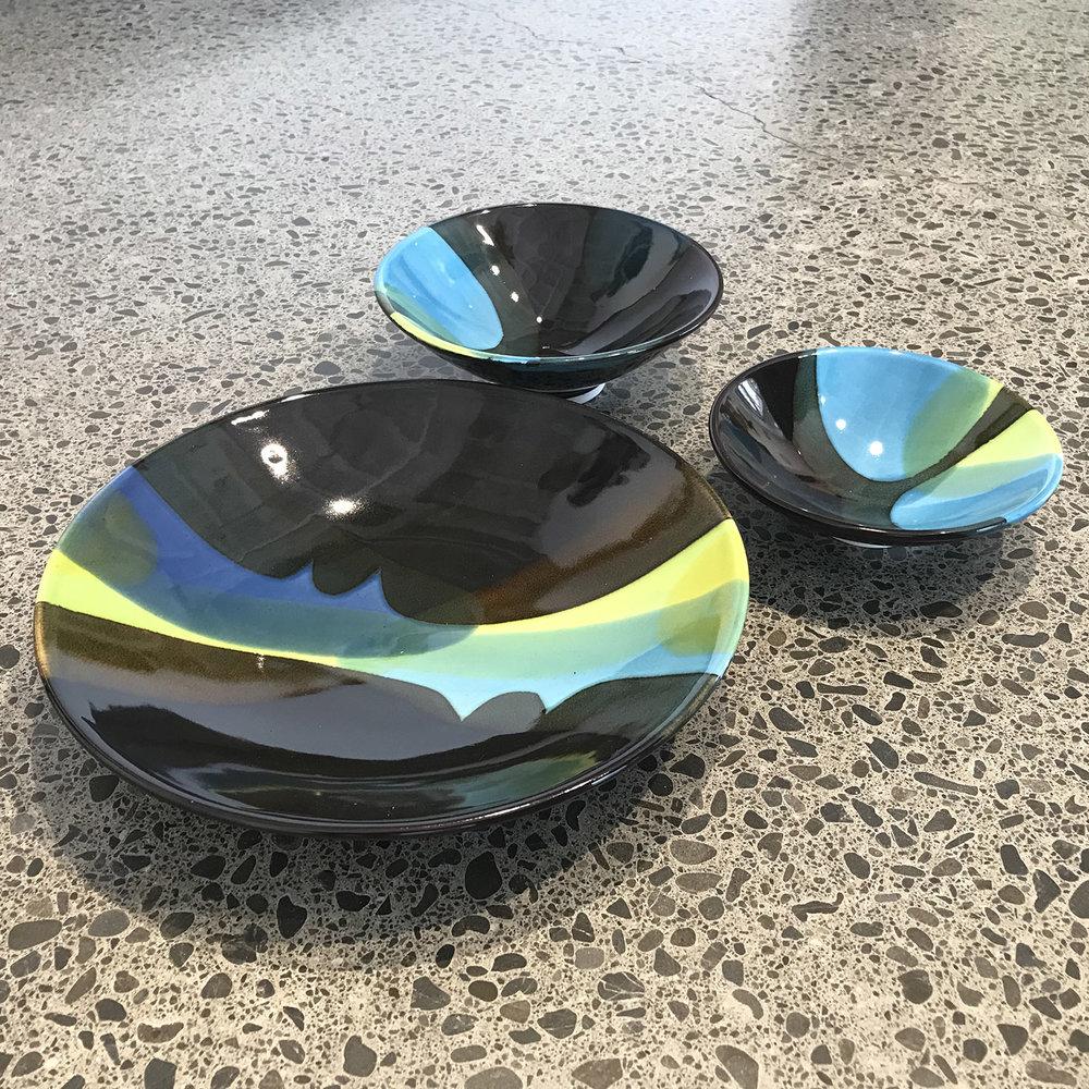 Glazed Ceramic Dishes, mini $40, small $62, medium $102, large $230