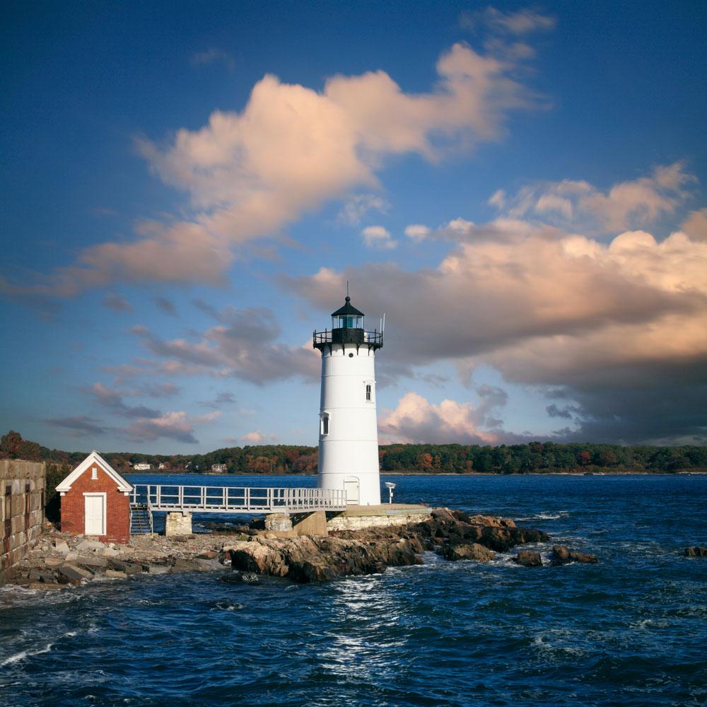New Hampshire lighthouse, lighthouse, New Hampshire seacoast, Ocean, Atlantic Ocean