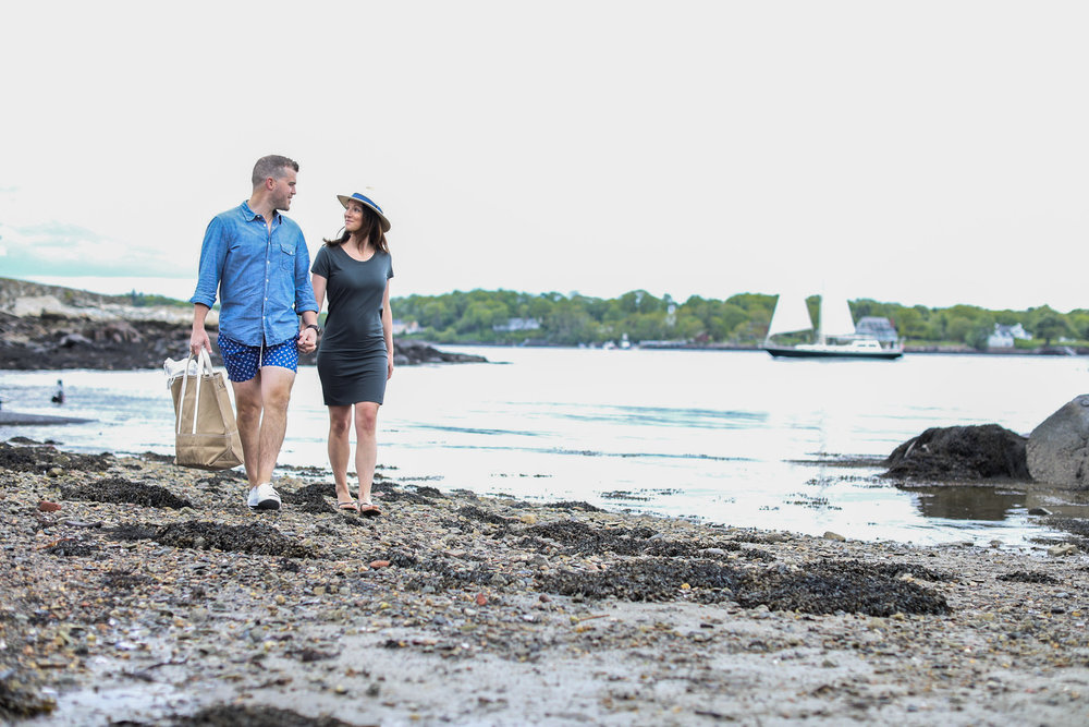 Rye Beach, Beach, Ocean, New Hampshire Seacoast, romantic getaway, couple, in love, scenic