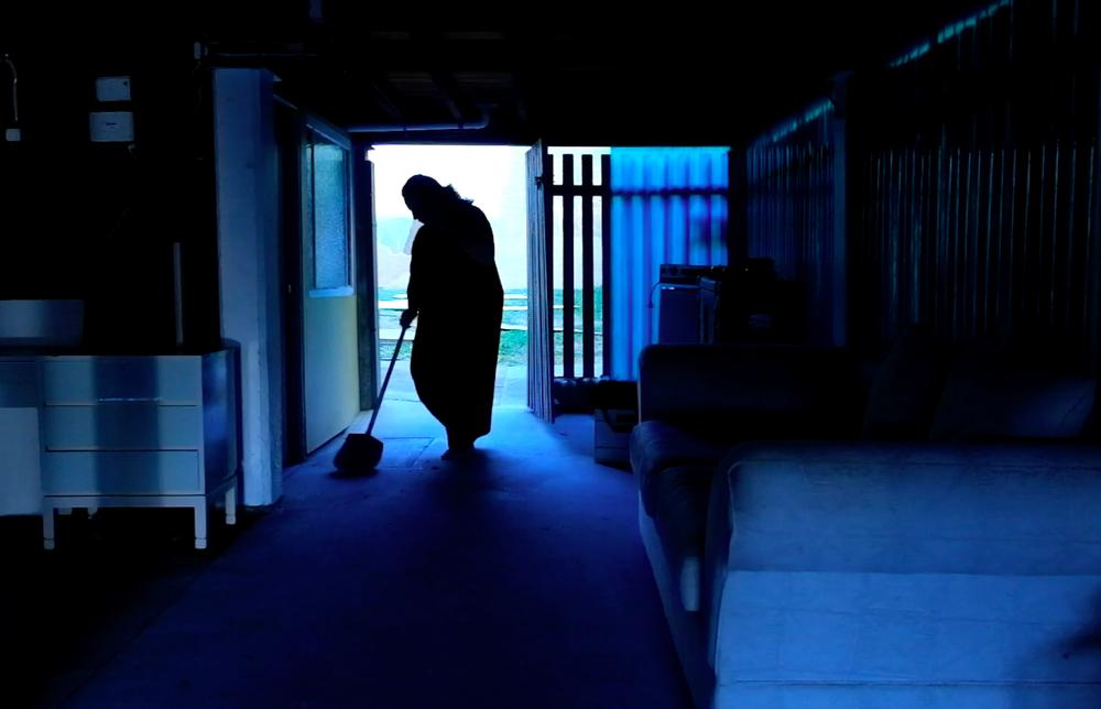 Annelize Mulder, 2017, The Swept Yard , Video still, photo courtesy of artist