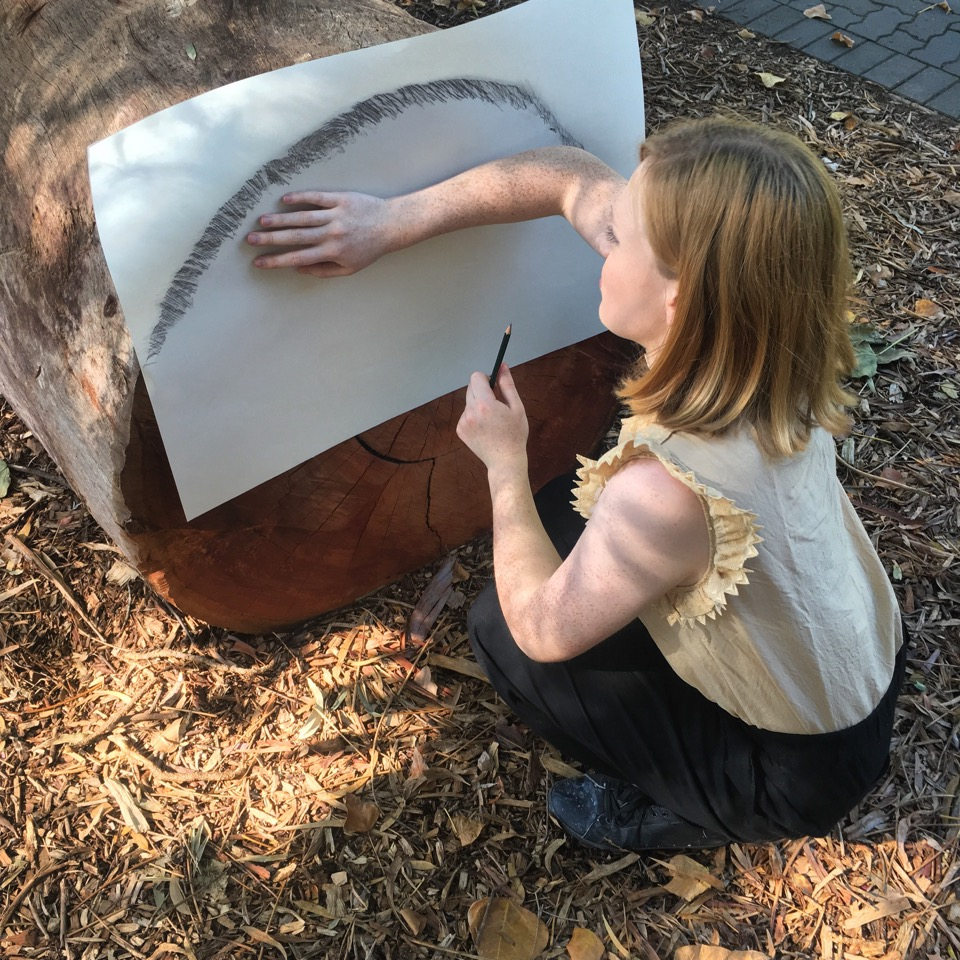 Bernadette Klavins working on 'Cut', 2017